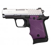 Springfield Armory 911 9mm: Cobblestone Rubber Grip with Finger Grooves (Ambi Safety) - Purple