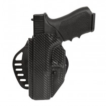 GLOCK 17, 18, 22, 31, 37, 47: ARS Stage 1 Carry Holster (Left Hand) - CF Weave