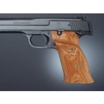 S&W 41 Tulipwood R. hand thumb rest checkered
