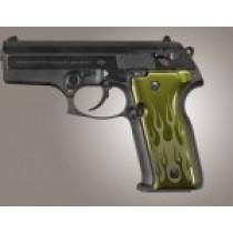 Beretta Cougar 8045 Flames Aluminum - Green Anodize