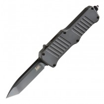 "HK Mini Incursion OTF Automatic: 2.95"" Tanto Blade - Black PVD Finish, Matte Grey Aluminum Frame"