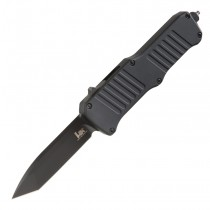 "HK Mini Incursion OTF Automatic: 2.95"" Tanto Blade - Black PVD Finish, Matte Black Aluminum Frame"