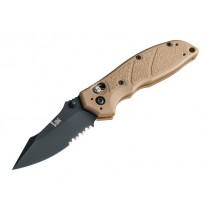 "HK Exemplar 3.25"" ABLE Lock Folder: Black Cerakote Clip Point Blade (Partially Serrated), FDE G10 Frame"