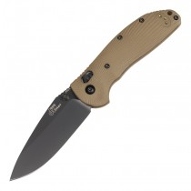 "Doug Ritter RSK MKI-G2 ABLE Lock™ Folder (Knifeworks Exclusive): 3.44"" Drop Point Blade - Black Cerakote Finish, FDE G10 Scales"