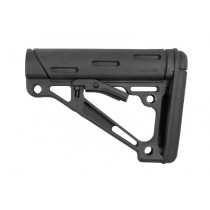 AR-15 / M16: OverMolded Collapsible Buttstock (Fits Mil-Spec Buffer Tube) - Black
