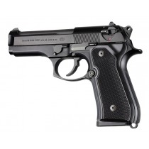 Beretta 92FS Checkered Aluminum - Brushed Gloss Black Anodize