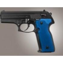 Beretta Cougar 8000 - 8040 - 8357 Checkered Aluminum - Matte Blue Anodize