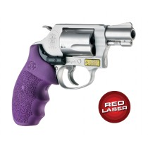 Red Laser Enhanced Monogrip for S&W J-Frame Round Butt: OverMolded Rubber - Purple