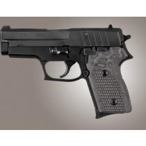 SIG Sauer P245 P220 Compact Piranha Grip G10 - G-Mascus Black/Gray