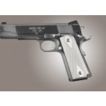 1911 Govt. Model 3/16 Thin Checkered Aluminum - Brushed Gloss Clear Anodized