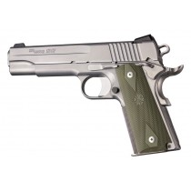 1911 Govt. Model: Checkered Rubber Grip Panels with Diamonds - OD Green