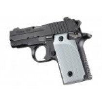SIG Sauer P238 Checkered Aluminum - Matte Clear Anodize
