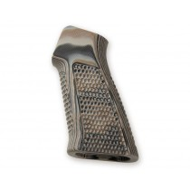 AR15 / M16 No Finger Groove Piranha Grip G10 - G-Mascus Dark Earth