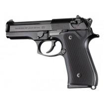 Beretta 92FS Checkered Aluminum - Matte Black Anodize