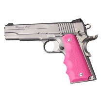 1911 Govt. Model: Cobblestone Rubber Grip with Finger Grooves - Pink