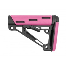 AR-15 / M16: OverMolded Collapsible Buttstock (Fits Mil-Spec Buffer Tube) - Pink