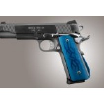 1911 Govt. Aluminum Magrip Kit - Tribal Arched Matte Blue