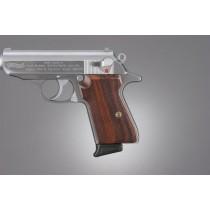 Walther PPK/S & PP: Checkered Hardwood Grip Panels - Pau Ferro