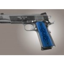 1911 Govt. Model S&A Mag Well Tribal Aluminum - Blue Anodized