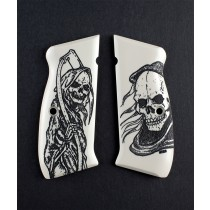 CZ 75 Scrimshaw Ivory Polymer - Grim Reaper
