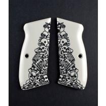 CZ 75 Scrimshaw Ivory Polymer - Boneyard