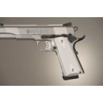 1911 Govt. Model 9/32 Thick Checkered Aluminum - Matte Clear Anodized