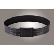 "2-1/4"" Black 48"" Waist Duty Belt Nytek Lining 4 Row Stitching with 1 Piece Safety Buckle Polymer"