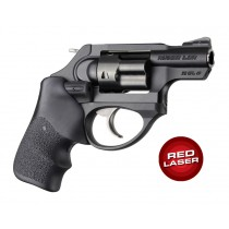Laser Enhanced Grip Red Laser - Ruger LCR Finger Groove Rubber Tamer Cushion Black