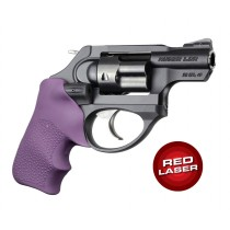 Red Laser Enhanced Grip for Ruger LCR: OverMolded Rubber Tamer Cushion - Purple