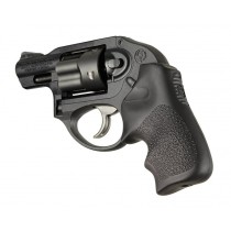 Ruger LCR/LCRx: Black Rubber Tamer Cushion Grip with Finger Grooves