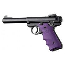 Ruger MK IV: Purple Rubber Grip with Finger Grooves