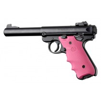 Ruger MK IV: Pink Rubber Grip with Finger Grooves