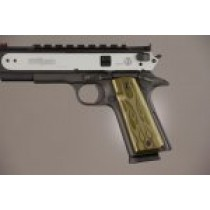 1911 Govt. Model 9/32 Thick Flames Aluminum - Green Anodized