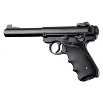 Ruger MK IV: Black Rubber Grip with Finger Grooves & Right Hand Thumb Rest