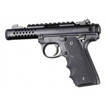 Ruger 22/45 MKIV: Black Rubber Grip with Finger Grooves
