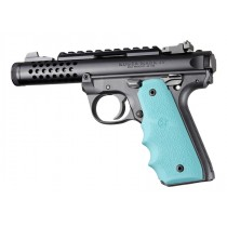 Ruger 22/45 MKIV: Aqua Rubber Grip with Finger Grooves