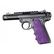 Ruger 22/45 MKIV: Purple Rubber Grip with Finger Grooves