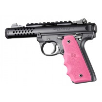 Ruger 22/45 MKIV: Pink Rubber Grip with Finger Grooves