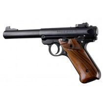 Ruger MK IV: Smooth Hardwood Grip with Right Hand Thumb Rest - Pau Ferro