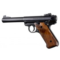 Ruger MK IV: Pau Ferro Checkered Hardwood Grip with Right Hand Thumb Rest