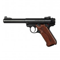 Ruger MK IV: Checkered Hardwood Grip with Palm Swells - Kingwood