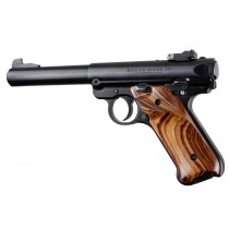 Ruger MK IV: Smooth Hardwood Grip with Right Hand Thumb Rest - Kingwood
