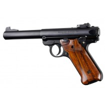 Ruger MK IV: Smooth Hardwood Grip with Right Hand Thumb Rest - Cocobolo