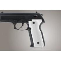 Beretta Cougar 8045 Checkered Aluminum - Matte Clear Anodize