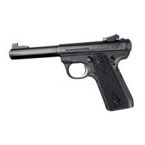 Ruger MK III 22/45 RP Piranha Grip G10 - Solid Black