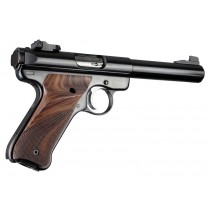 Ruger MK II/III - Checkered - PAU FERRO - Left Hand Thumb Rest
