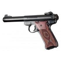 Ruger MK II/III - Checkered - ROSEWOOD LAMINATE - w/ Palm Swells