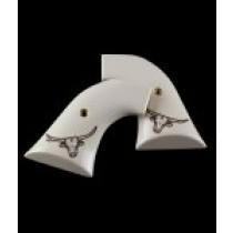 Super Blackhawk Scrimshaw Ivory Polymer - Steer Head