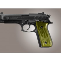 Taurus PT-99 PT-92 PT-100 PT-101 Safety Only Flames Aluminum - Green Anodize