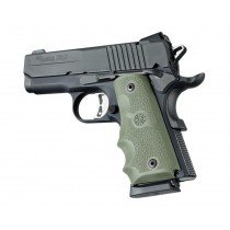 1911 Officers Model Rubber Grip with Finger Grooves OD Green